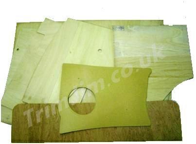 FULL SET OF 10 SPLIT SCREEN BARE WOOD DOOR CARDS